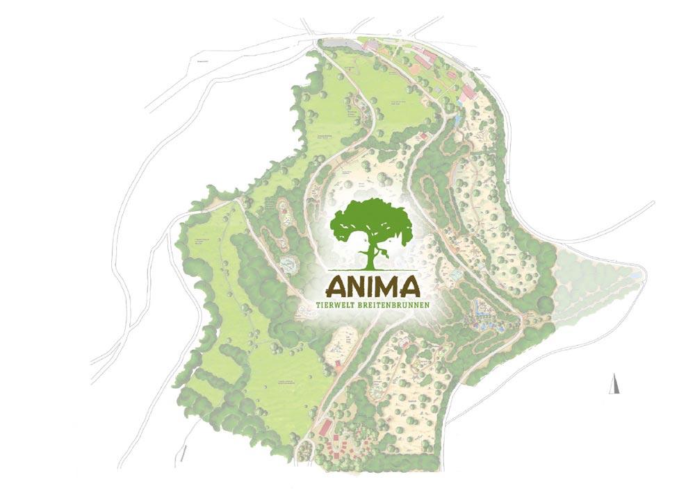 Anima Tierwelt Lageplan